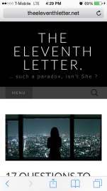 The Eleventh Letter blog